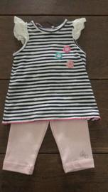 Setje Ducky beau tuniek + roze legging - maat 56