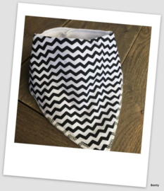 Sjaaltje / Slabber - Zigzag zwart
