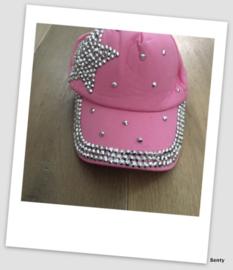 Baseball Cap - Roze - Glitter & glamour