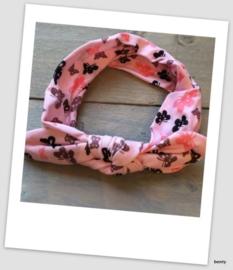 Knoop haarband - Vlinder - Roze