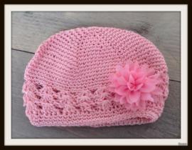 Mutsje Roze - Fluffy bloem Roze