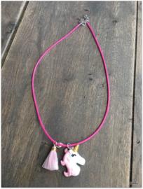 Ketting - Unicorn - Fuchisa/Roze