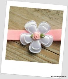 Babyhaarbandje Pink Glitter Fleur