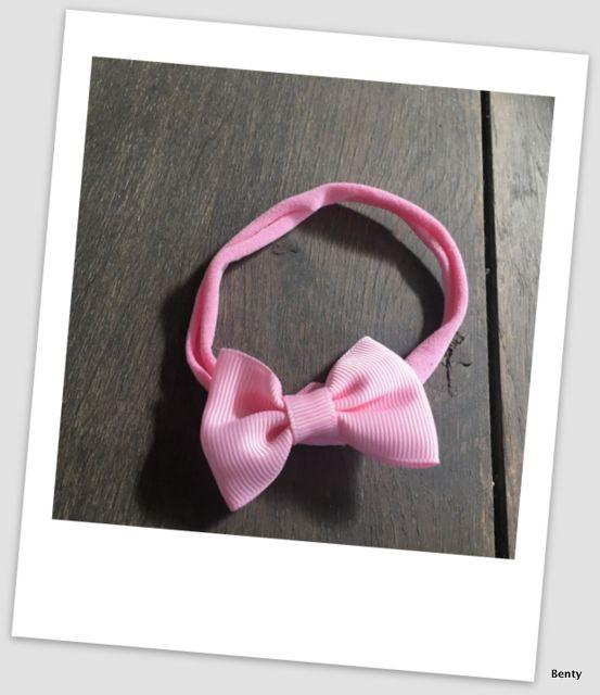 Benty haarbandje - All pink strik