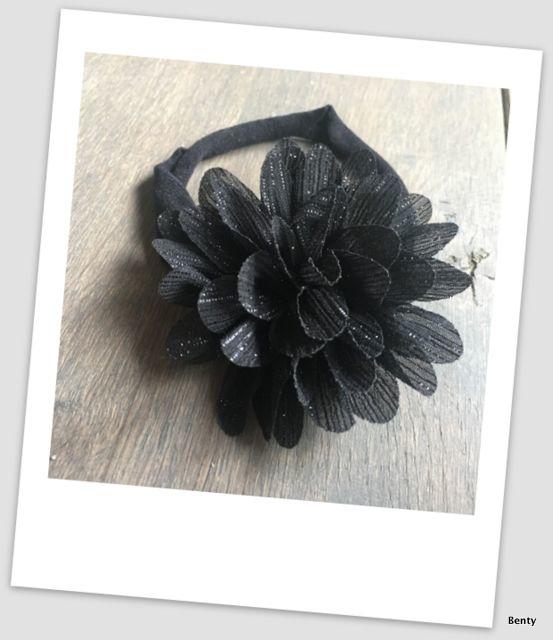 Benty haarbandje - All black glitter