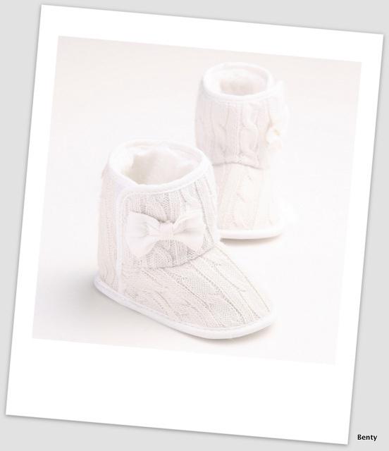 Laarsje - Wit met strikje