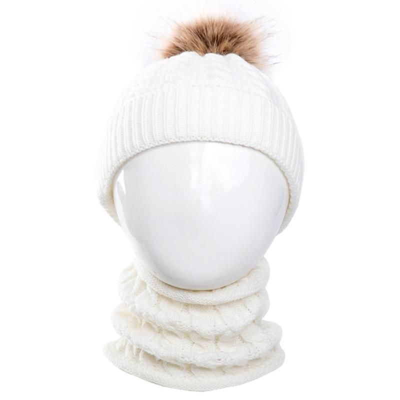 Winter setje - muts en sjaal - wit