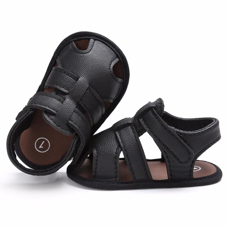 Sandaaltje -  Leather look - Zwart