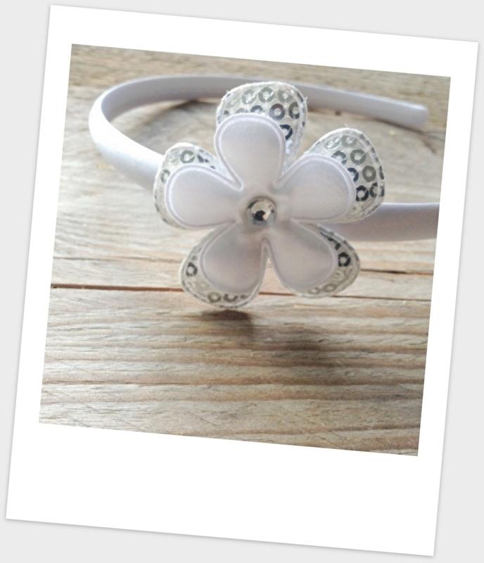 Diadeem Pailletten & White