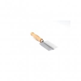 Kam dubbel fijn/medium, houten handvat - Made in England - HPP