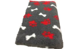 Vet Bed met anti-sliplaag (Antraciet Bot Rood Poot)