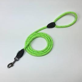 Dogogo touw hondenlijn met handvat, 12 mm, groen