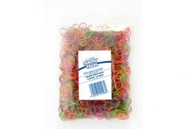 Show Tech Medium (8mm) latex Top Knot elastiekjes voor honden (1000 stuks) neon