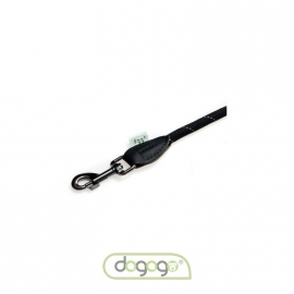 Dogogo touw hondenlijn zonder handvat, 12 mm, zwart