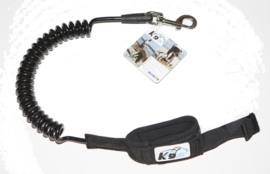 K9 Coil Leash Large Black