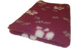 Vet Bed met anti-sliplaag (Cerise Wit Grijs Poot)
