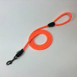Dogogo touw hondenlijn met handvat, 12 mm, oranje