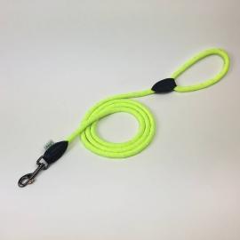 Dogogo touw hondenlijn met handvat, 12 mm, geel