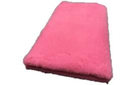 Vet Bed met anti-sliplaag (Oud roze)