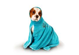 Show Tech+ Dry Dude Turquoise Handdoek Voor Honden En Katten