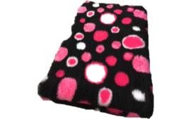 Vet Bed met anti-sliplaag (Zwart Cirkels Fuchsia)