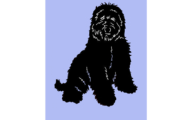dutch Hero's Vet Bed LabraDoodle blauw, anti-slip