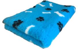 Vet Bed met anti-sliplaag (Blauw Bot Poot)