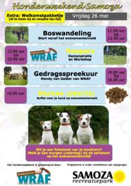 Hondenweekend Recreatiepark Samoza, Vierhouten (26 & 27 mei 2017)