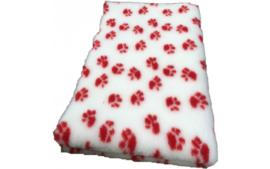 Vet Bed met anti-sliplaag (Wit Rode Poot)
