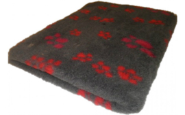 Vet Bed met anti-sliplaag (Antraciet Fuchsia Rood Poot)