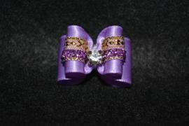 Strikje luxe paars