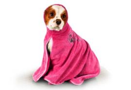 Show Tech+ Dry Dude Roze Handdoek Voor Honden En Katten
