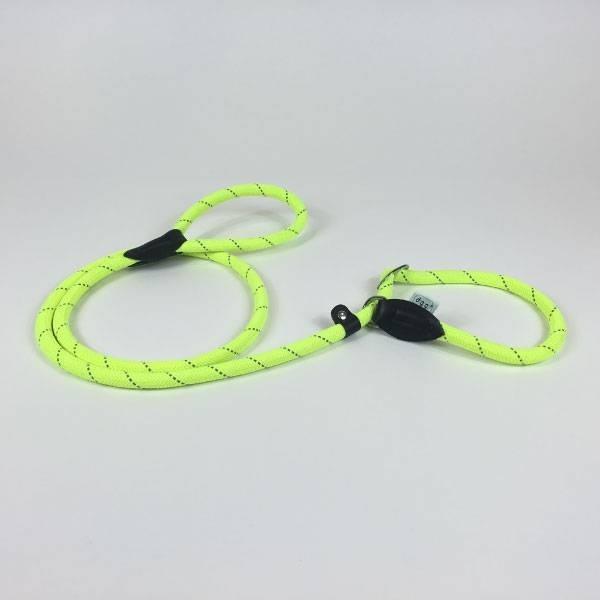 Dogogo retriever hondenlijn 150 cm x 12 mm, geel (Moxonlijn)