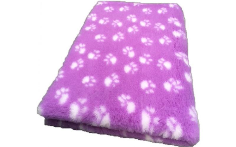 Vet Bed met anti-sliplaag (Lila Witte Poot)