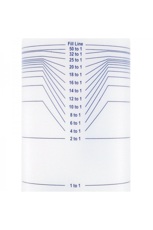 Mengfles 0,5 liter of 1 liter met maataanduiding (ShowTech)