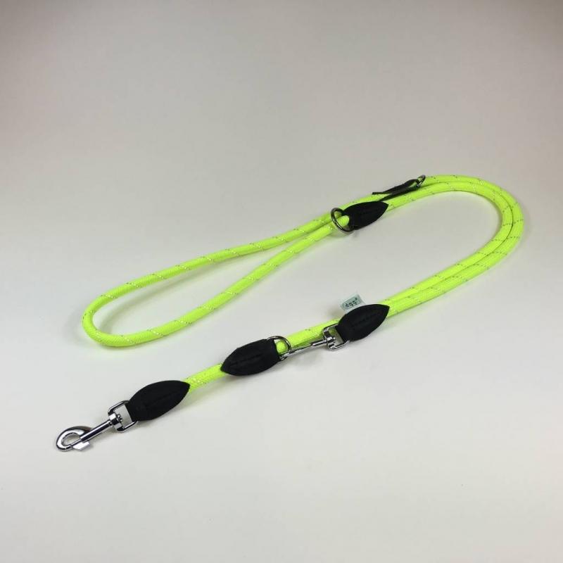 Dogogo verstelbare hondenlijn 12 mm, geel
