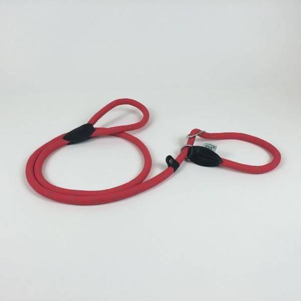 Dogogo retriever hondenlijn 150 cm x 12 mm, rood (Moxonlijn)