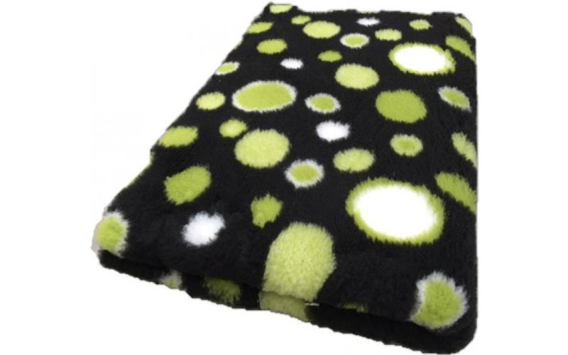 Vet Bed met anti-sliplaag (Zwart Cirkels Groen)