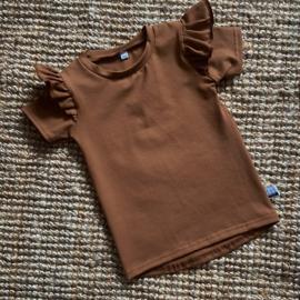Ruffled shirt roestbruin
