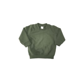 Basic sweater khaki green
