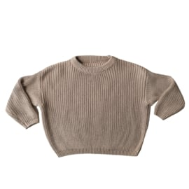 Knit sweater natural