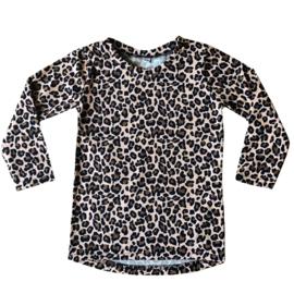 Leopard beige longsleeve dropback