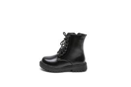Zwart matte boots