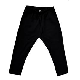 Basic effen legging zwart