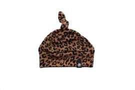 Knoopmutsje leopard toffee
