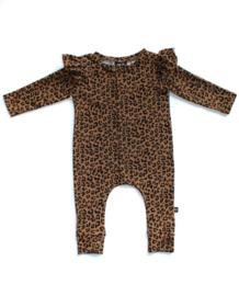 Ruffled boxpakje toffee leopard