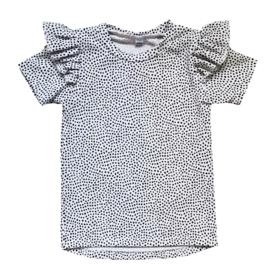 Ruffled shirt mini dots