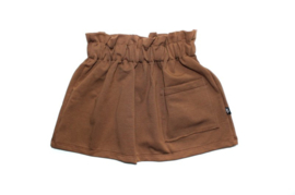 Pocket skirt brown