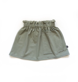 Dusty green pocket skirt