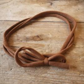 Strik haarbandje roest bruin